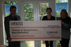 LANXESS UK hand over cheque for £2,000