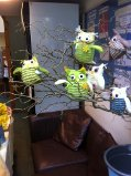 Easter Owls in Tree